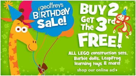toys r us lego calico critter playmobil discount sale coupon deal