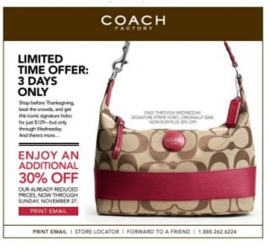 black friday coach outlet coupon