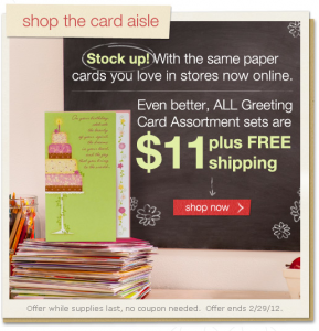 greeting card set sale discount