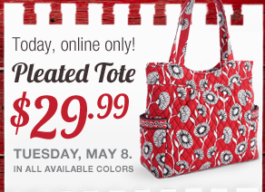 vera bradley pleated tote sale