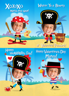 pirate valentine card