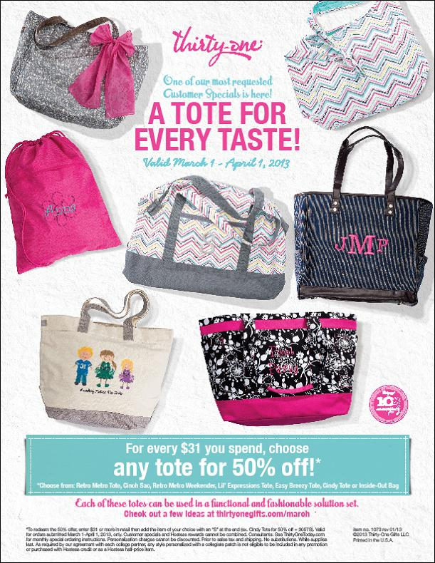 thirty one bags march special