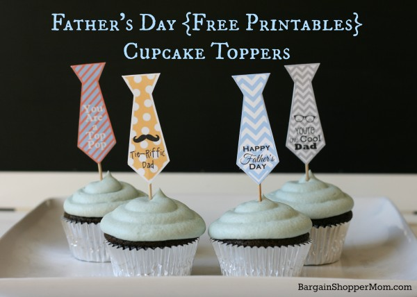 BargainShopperMom Free Printables Father's Day Cupcake Toppers