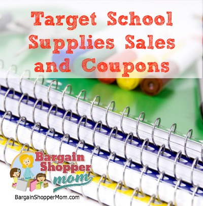 target school supply sales and coupons