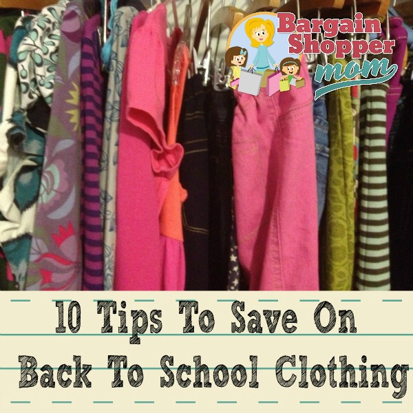 save on back to school clothes tips