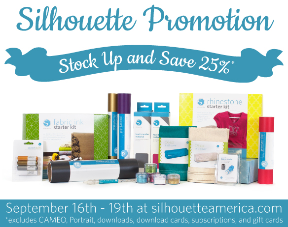 Silhouette September 25 Off Promo