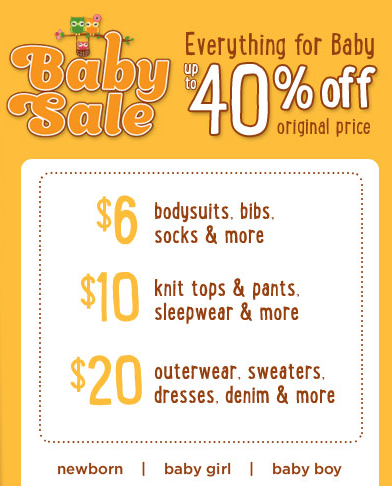 gymboree baby sale coupon