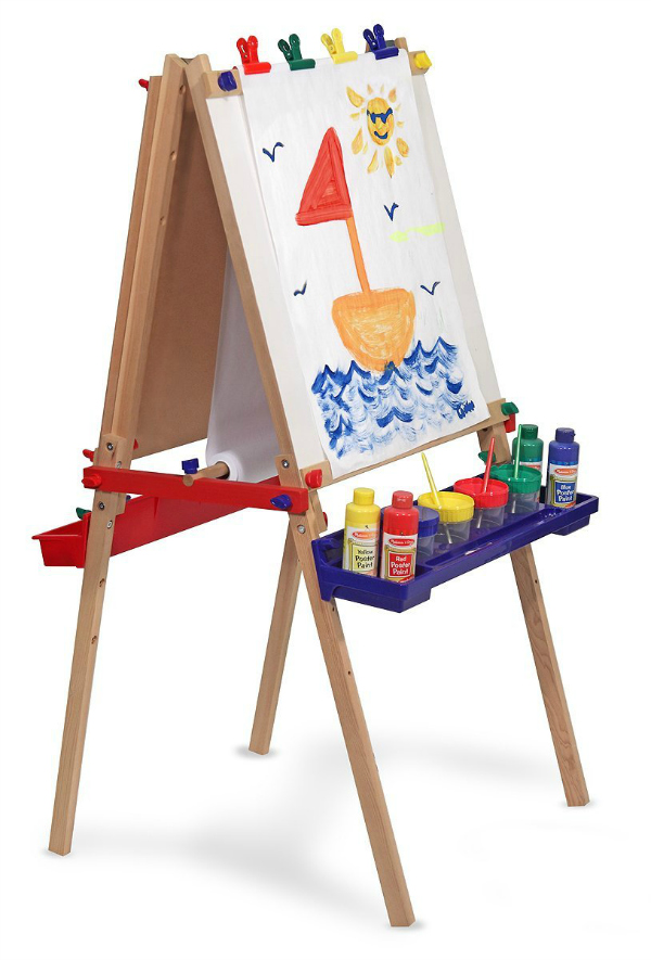 Melissa and Doug Deluxe Standing Easel Gift Idea for Kids Who Love Art