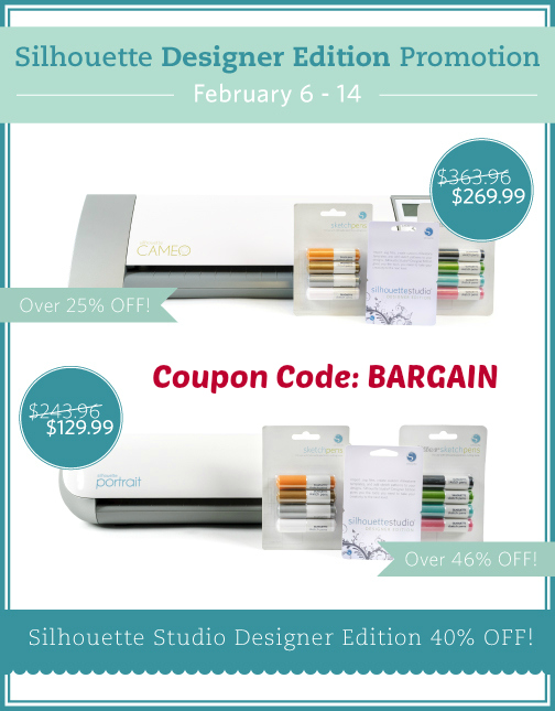 Silhouette Sale February from BargainShopperMom